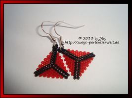 earrings triangle red by Zoey-01