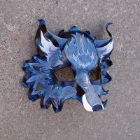 Blue FireFox Mask by merimask