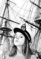 The girl who wanted to sail the world by PabloJuradoRuiz