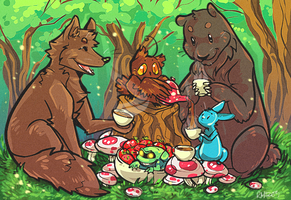 Tea Party by MagicBunnyArt