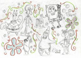 SpongeBob Sketches by Spongefifi