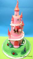 Castle Cake by ginas-cakes