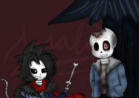 (Request) Blackberry Kim and Horror!Sans by Scribbleshadows