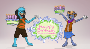 Happy Birthday Smirky and Sparklespeed! by PkmnPrincessPiplup