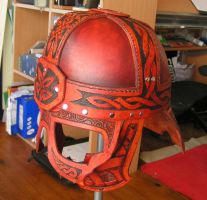 Leather Celtic Helmet 3 by Bear-Crafter