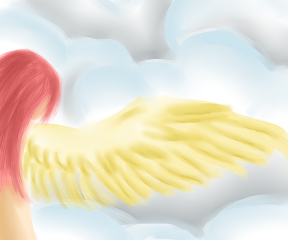 Angel in the clouds by ChibiMusouka