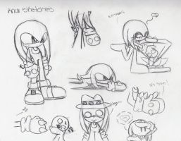 Knux Sketches by fansonic