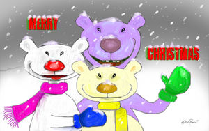 3 Xmas Bears by altergromit