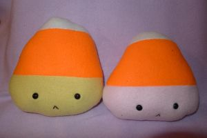 Candy Corn Plush Prototypes by Romaji