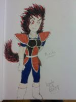 Miesha, my OC for Dragonball Z by BrandiTheBisharp