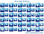 Blue Web Buttons by yourmailkept