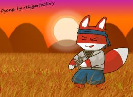 Pyong, the brave Ninja fox by FoxRichards