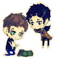 Dean and Castiel by Killer-Instincts