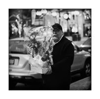 A Man with Flowers by panfoto
