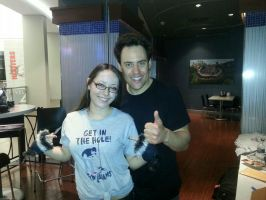 2nd pic with Orny Adams by LightninBluEyes