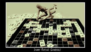 Dummy playing Scrabble by Kemao