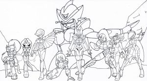 COM Lady Ultron's Army by ChaosCroc