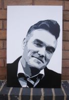 Morrissey - Multilayer Stencil Spray Paint Canvas by RAMART79