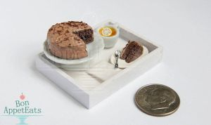 Gift - 1:12 Chocolate Cake Serving Tray by Bon-AppetEats