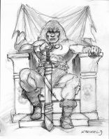 Conan the Barbarian sketch by SpiritedFool
