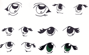 Working on eyes - 1 by Gahouly