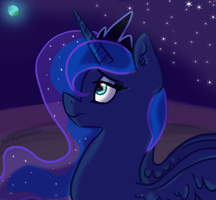 Princess Luna ~ by Rockinrockerchic