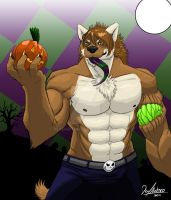 Halloween Wolf by DeadAnthro