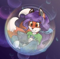 Bubble Child - Fox Girl by Wazaga