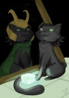 Loki is a Cat? by ODesigner