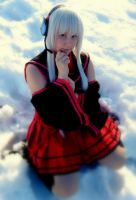 Sitting in the snow (utau cosplay) by tutti-chan