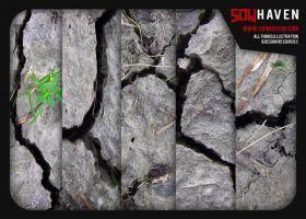 Cracked Dirt Textures by sdwhaven