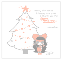 Happy Holidays + Thank you +100 watchers! by nomychan