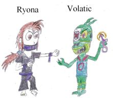 Ryona and Volatic by Crash-the-Megaraptor