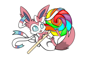 Sylveon as sweet as can be by Silverwolf020