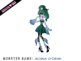 Acqua O'cean Monster High OC by TeaganLouise