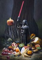 Vader Figure and Fruits by marcheba