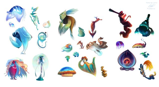 Seaside Set of Characters by Piranhartist