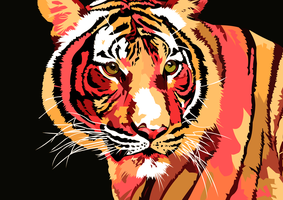 Tijger Red Vector by elviraNL
