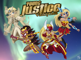 Titan Valkyries- Young Justice by UltimeciaFFB