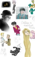 GINORMOUS SKETCHDUMP by candlehat