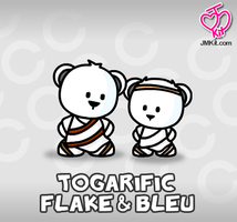 Togarific Flake and Bleu by JinxBunny