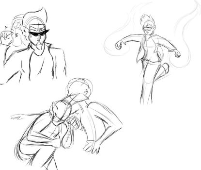 Fight Stuffs Doodles by Skinnygamer