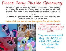 Free Pony Plushie Giveaway!! by eebharas