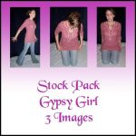Stock Pack -Gypsy Girl by Gracies-Stock