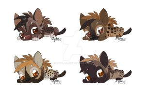 Lil hyenas adoptable/ all sold / $4 by mydlas