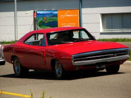 red 1970 dodge charger by AmericanMuscle