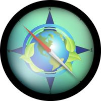 Eco Friendly Compass by pbeebe
