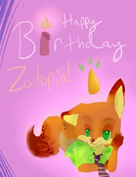 Zootopia's First Birthday by Serpent-of-Autumn