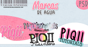 #2 Pack-Marcas De Agua PSD by TutosCreateBluue