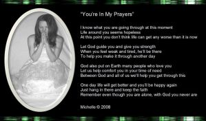 For Liz: You Are In My Prayers by VisualPoetress